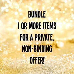 Bundle 1 or more items for a private offer! 👍👍👍